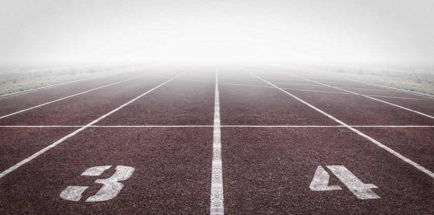 starting line at track and field freelance writing