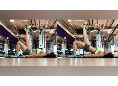 woman doing hip bridge exercise