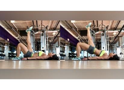 woman doing hip bridge exercise