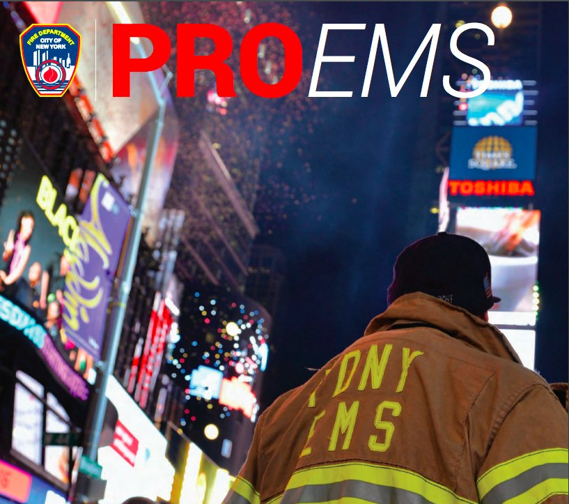 Firefighter in times square on NYE