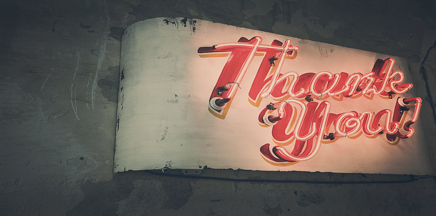 thank you sign freelance writing tips