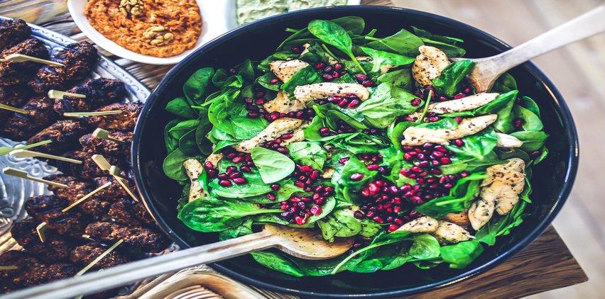 healthy chicken salad dish