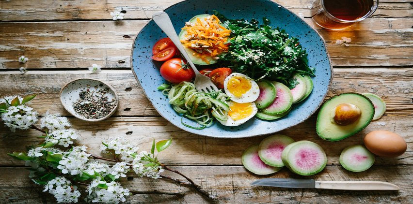 healthy colorful food on plate