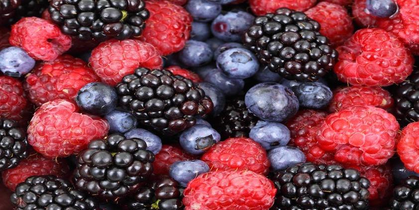 Pexels. Closeup picture of blueberries, raspberries, and blackberries