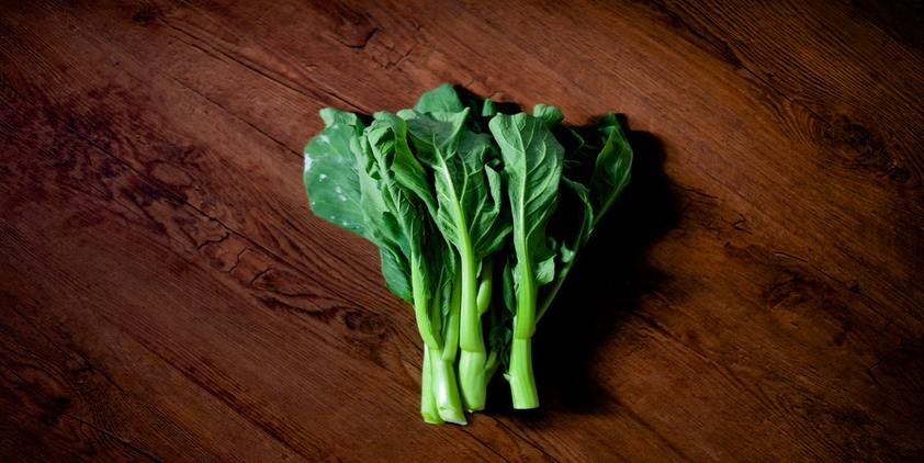 Pexels. Leafy Green vegetables on a table