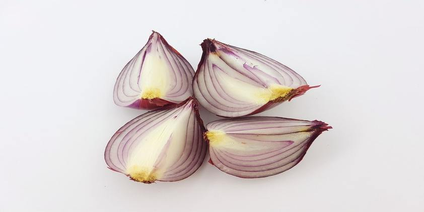 unsplash. sliced onions