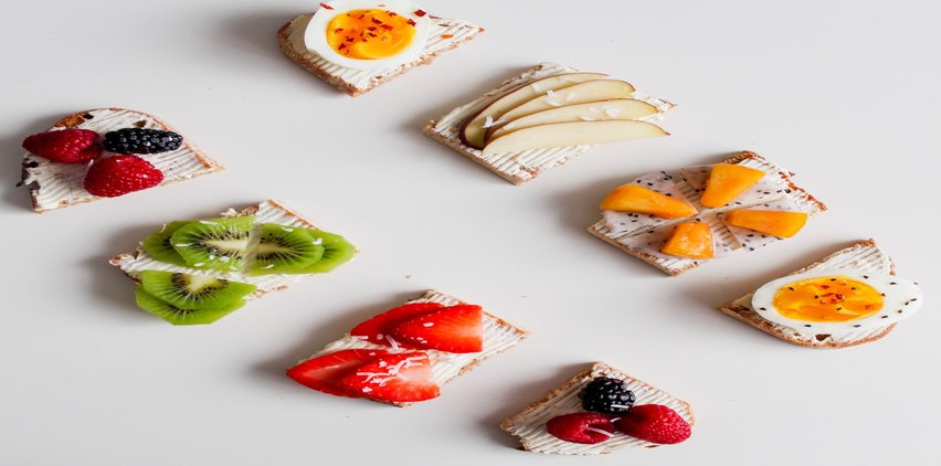 cheese crackers and berries