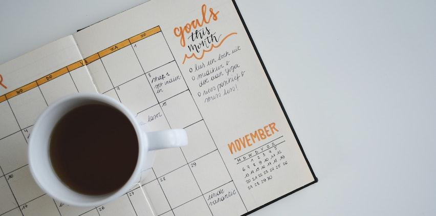 A goal-setting calendar