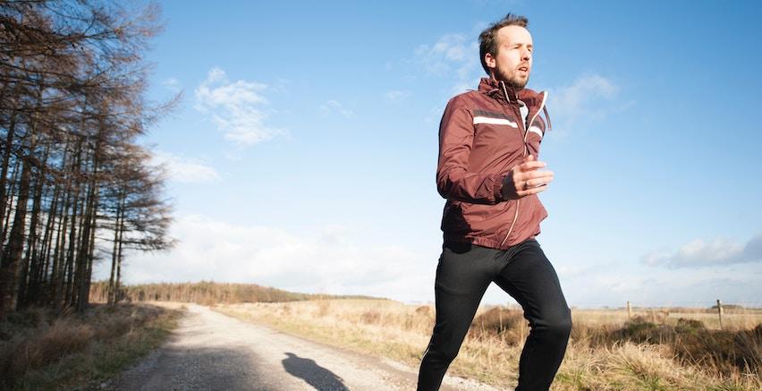 A man going for a jog.