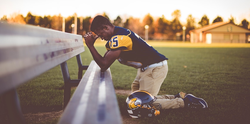 A football player after defeat