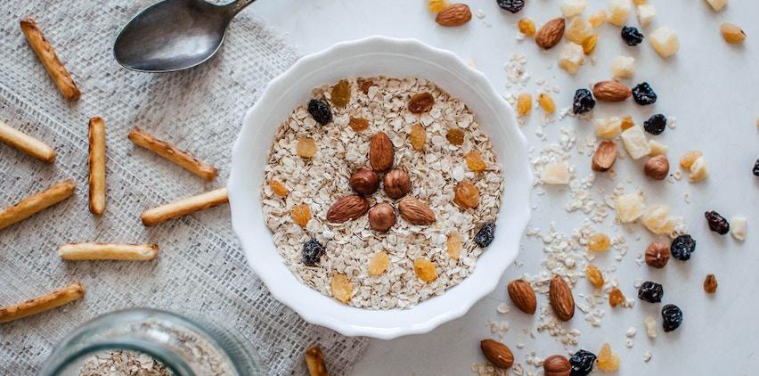 A bowl of whole grain oatmeal